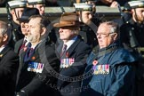 Remembrance Sunday at the Cenotaph in London 2014: Group F6 - Queen's Bodyguard of The Yeoman of The Guard. Press stand opposite the Foreign Office building, Whitehall, London SW1, London, Greater London, United Kingdom, on 09 November 2014 at 11:57, image #969