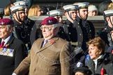 Remembrance Sunday at the Cenotaph in London 2014: Group F6 - Queen's Bodyguard of The Yeoman of The Guard. Press stand opposite the Foreign Office building, Whitehall, London SW1, London, Greater London, United Kingdom, on 09 November 2014 at 11:57, image #973