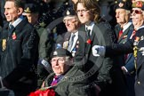 Remembrance Sunday at the Cenotaph in London 2014: Group F12- National Service Veterans Alliance. Press stand opposite the Foreign Office building, Whitehall, London SW1, London, Greater London, United Kingdom, on 09 November 2014 at 11:57, image #994