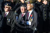 Remembrance Sunday at the Cenotaph in London 2014: Group F12- National Service Veterans Alliance. Press stand opposite the Foreign Office building, Whitehall, London SW1, London, Greater London, United Kingdom, on 09 November 2014 at 11:57, image #999