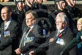 Remembrance Sunday at the Cenotaph in London 2014: Group F13 - Gallantry Medallists League. Press stand opposite the Foreign Office building, Whitehall, London SW1, London, Greater London, United Kingdom, on 09 November 2014 at 11:57, image #1001