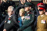 Remembrance Sunday at the Cenotaph in London 2014: Group F13 - Gallantry Medallists League. Press stand opposite the Foreign Office building, Whitehall, London SW1, London, Greater London, United Kingdom, on 09 November 2014 at 11:57, image #1002