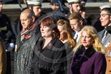 Remembrance Sunday at the Cenotaph in London 2014: Group F13 - Gallantry Medallists League. Press stand opposite the Foreign Office building, Whitehall, London SW1, London, Greater London, United Kingdom, on 09 November 2014 at 11:57, image #1004