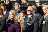 Remembrance Sunday at the Cenotaph in London 2014: Group F13 - Gallantry Medallists League. Press stand opposite the Foreign Office building, Whitehall, London SW1, London, Greater London, United Kingdom, on 09 November 2014 at 11:57, image #1006