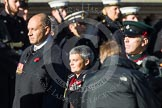 Remembrance Sunday at the Cenotaph in London 2014: Group F14 - National Malaya & Borneo Veterans Association. Press stand opposite the Foreign Office building, Whitehall, London SW1, London, Greater London, United Kingdom, on 09 November 2014 at 11:57, image #1011