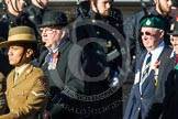 Remembrance Sunday at the Cenotaph in London 2014: Group F14 - National Malaya & Borneo Veterans Association. Press stand opposite the Foreign Office building, Whitehall, London SW1, London, Greater London, United Kingdom, on 09 November 2014 at 11:58, image #1019