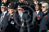 Remembrance Sunday at the Cenotaph in London 2014: Group F14 - National Malaya & Borneo Veterans Association. Press stand opposite the Foreign Office building, Whitehall, London SW1, London, Greater London, United Kingdom, on 09 November 2014 at 11:58, image #1020