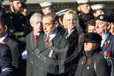 Remembrance Sunday at the Cenotaph in London 2014: Group F15 - National Gulf Veterans & Families Association. Press stand opposite the Foreign Office building, Whitehall, London SW1, London, Greater London, United Kingdom, on 09 November 2014 at 11:58, image #1038