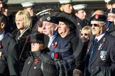 Remembrance Sunday at the Cenotaph in London 2014: Group F15 - National Gulf Veterans & Families Association. Press stand opposite the Foreign Office building, Whitehall, London SW1, London, Greater London, United Kingdom, on 09 November 2014 at 11:58, image #1039