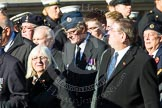 Remembrance Sunday at the Cenotaph in London 2014: Group F15 - National Gulf Veterans & Families Association. Press stand opposite the Foreign Office building, Whitehall, London SW1, London, Greater London, United Kingdom, on 09 November 2014 at 11:58, image #1041