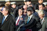 Remembrance Sunday at the Cenotaph in London 2014: Group F15 - National Gulf Veterans & Families Association. Press stand opposite the Foreign Office building, Whitehall, London SW1, London, Greater London, United Kingdom, on 09 November 2014 at 11:58, image #1042