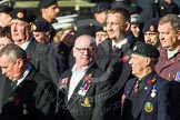 Remembrance Sunday at the Cenotaph in London 2014: Group F15 - National Gulf Veterans & Families Association. Press stand opposite the Foreign Office building, Whitehall, London SW1, London, Greater London, United Kingdom, on 09 November 2014 at 11:58, image #1046