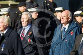 Remembrance Sunday at the Cenotaph in London 2014: Group F16 - Fellowship of the Services. Press stand opposite the Foreign Office building, Whitehall, London SW1, London, Greater London, United Kingdom, on 09 November 2014 at 11:58, image #1051