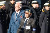 Remembrance Sunday at the Cenotaph in London 2014: Group F16 - Fellowship of the Services. Press stand opposite the Foreign Office building, Whitehall, London SW1, London, Greater London, United Kingdom, on 09 November 2014 at 11:58, image #1052