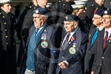 Remembrance Sunday at the Cenotaph in London 2014: Group F17 - Suez Veterans Association. Press stand opposite the Foreign Office building, Whitehall, London SW1, London, Greater London, United Kingdom, on 09 November 2014 at 11:58, image #1055