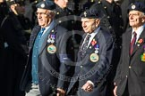 Remembrance Sunday at the Cenotaph in London 2014: Group F17 - Suez Veterans Association. Press stand opposite the Foreign Office building, Whitehall, London SW1, London, Greater London, United Kingdom, on 09 November 2014 at 11:58, image #1056
