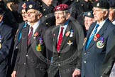 Remembrance Sunday at the Cenotaph in London 2014: Group F17 - Suez Veterans Association. Press stand opposite the Foreign Office building, Whitehall, London SW1, London, Greater London, United Kingdom, on 09 November 2014 at 11:58, image #1058