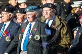 Remembrance Sunday at the Cenotaph in London 2014: Group F17 - Suez Veterans Association. Press stand opposite the Foreign Office building, Whitehall, London SW1, London, Greater London, United Kingdom, on 09 November 2014 at 11:58, image #1060