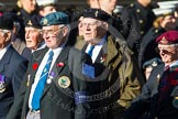 Remembrance Sunday at the Cenotaph in London 2014: Group F17 - Suez Veterans Association. Press stand opposite the Foreign Office building, Whitehall, London SW1, London, Greater London, United Kingdom, on 09 November 2014 at 11:58, image #1061