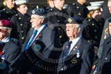 Remembrance Sunday at the Cenotaph in London 2014: Group F17 - Suez Veterans Association. Press stand opposite the Foreign Office building, Whitehall, London SW1, London, Greater London, United Kingdom, on 09 November 2014 at 11:58, image #1063