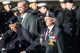 Remembrance Sunday at the Cenotaph in London 2014: Group F17 - Suez Veterans Association. Press stand opposite the Foreign Office building, Whitehall, London SW1, London, Greater London, United Kingdom, on 09 November 2014 at 11:59, image #1065