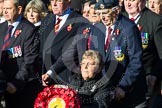 Remembrance Sunday at the Cenotaph in London 2014: Group F18 - Aden Veterans Association. Press stand opposite the Foreign Office building, Whitehall, London SW1, London, Greater London, United Kingdom, on 09 November 2014 at 11:59, image #1071