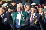 Remembrance Sunday at the Cenotaph in London 2014: Group F18 - Aden Veterans Association. Press stand opposite the Foreign Office building, Whitehall, London SW1, London, Greater London, United Kingdom, on 09 November 2014 at 11:59, image #1074