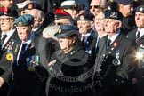 Remembrance Sunday at the Cenotaph in London 2014: Group F18 - Aden Veterans Association. Press stand opposite the Foreign Office building, Whitehall, London SW1, London, Greater London, United Kingdom, on 09 November 2014 at 11:59, image #1076