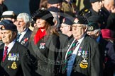 Remembrance Sunday at the Cenotaph in London 2014: Group F18 - Aden Veterans Association. Press stand opposite the Foreign Office building, Whitehall, London SW1, London, Greater London, United Kingdom, on 09 November 2014 at 11:59, image #1082