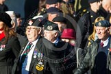 Remembrance Sunday at the Cenotaph in London 2014: Group F18 - Aden Veterans Association. Press stand opposite the Foreign Office building, Whitehall, London SW1, London, Greater London, United Kingdom, on 09 November 2014 at 11:59, image #1083