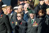 Remembrance Sunday at the Cenotaph in London 2014: Group F18 - Aden Veterans Association. Press stand opposite the Foreign Office building, Whitehall, London SW1, London, Greater London, United Kingdom, on 09 November 2014 at 11:59, image #1085