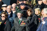 Remembrance Sunday at the Cenotaph in London 2014: Group F19 - 1st Army Association. Press stand opposite the Foreign Office building, Whitehall, London SW1, London, Greater London, United Kingdom, on 09 November 2014 at 11:59, image #1086