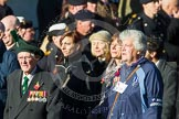 Remembrance Sunday at the Cenotaph in London 2014: Group F19 - 1st Army Association. Press stand opposite the Foreign Office building, Whitehall, London SW1, London, Greater London, United Kingdom, on 09 November 2014 at 11:59, image #1087