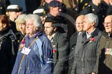 Remembrance Sunday at the Cenotaph in London 2014: Group F19 - 1st Army Association. Press stand opposite the Foreign Office building, Whitehall, London SW1, London, Greater London, United Kingdom, on 09 November 2014 at 11:59, image #1088