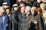 Remembrance Sunday at the Cenotaph in London 2014: Group F19 - 1st Army Association. Press stand opposite the Foreign Office building, Whitehall, London SW1, London, Greater London, United Kingdom, on 09 November 2014 at 11:59, image #1089