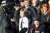 Remembrance Sunday at the Cenotaph in London 2014: Group F19 - 1st Army Association. Press stand opposite the Foreign Office building, Whitehall, London SW1, London, Greater London, United Kingdom, on 09 November 2014 at 11:59, image #1097
