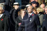 Remembrance Sunday at the Cenotaph in London 2014: Group F20 - Showmens' Guild of Great Britain. Press stand opposite the Foreign Office building, Whitehall, London SW1, London, Greater London, United Kingdom, on 09 November 2014 at 11:59, image #1105