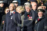 Remembrance Sunday at the Cenotaph in London 2014: Group F20 - Showmens' Guild of Great Britain. Press stand opposite the Foreign Office building, Whitehall, London SW1, London, Greater London, United Kingdom, on 09 November 2014 at 11:59, image #1106