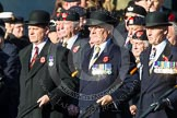 Remembrance Sunday at the Cenotaph in London 2014: Group A3 - The Rifles & Royal Gloucestershire, Berkshire & Wiltshire Regimental Association. Press stand opposite the Foreign Office building, Whitehall, London SW1, London, Greater London, United Kingdom, on 09 November 2014 at 11:59, image #1122