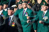 Remembrance Sunday at the Cenotaph in London 2014: Group A4 - Royal Irish Regiment Association.. Press stand opposite the Foreign Office building, Whitehall, London SW1, London, Greater London, United Kingdom, on 09 November 2014 at 12:00, image #1131