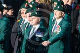 Remembrance Sunday at the Cenotaph in London 2014: Group A4 - Royal Irish Regiment Association.. Press stand opposite the Foreign Office building, Whitehall, London SW1, London, Greater London, United Kingdom, on 09 November 2014 at 12:00, image #1134