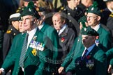 Remembrance Sunday at the Cenotaph in London 2014: Group A4 - Royal Irish Regiment Association.. Press stand opposite the Foreign Office building, Whitehall, London SW1, London, Greater London, United Kingdom, on 09 November 2014 at 12:00, image #1138