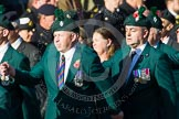 Remembrance Sunday at the Cenotaph in London 2014: Group A4 - Royal Irish Regiment Association.. Press stand opposite the Foreign Office building, Whitehall, London SW1, London, Greater London, United Kingdom, on 09 November 2014 at 12:00, image #1140