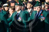 Remembrance Sunday at the Cenotaph in London 2014: Group A4 - Royal Irish Regiment Association.. Press stand opposite the Foreign Office building, Whitehall, London SW1, London, Greater London, United Kingdom, on 09 November 2014 at 12:00, image #1141