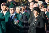 Remembrance Sunday at the Cenotaph in London 2014: Group A4 - Royal Irish Regiment Association.. Press stand opposite the Foreign Office building, Whitehall, London SW1, London, Greater London, United Kingdom, on 09 November 2014 at 12:00, image #1142