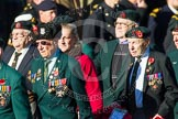 Remembrance Sunday at the Cenotaph in London 2014: Group A6 - King's Royal Rifle Corps Association. Press stand opposite the Foreign Office building, Whitehall, London SW1, London, Greater London, United Kingdom, on 09 November 2014 at 12:00, image #1147