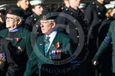 Remembrance Sunday at the Cenotaph in London 2014: Group A6 - King's Royal Rifle Corps Association. Press stand opposite the Foreign Office building, Whitehall, London SW1, London, Greater London, United Kingdom, on 09 November 2014 at 12:00, image #1152