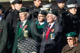 Remembrance Sunday at the Cenotaph in London 2014: Group A7 - Light Infantry Association. Press stand opposite the Foreign Office building, Whitehall, London SW1, London, Greater London, United Kingdom, on 09 November 2014 at 12:00, image #1153
