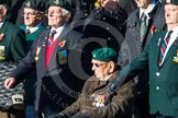 Remembrance Sunday at the Cenotaph in London 2014: Group A7 - Light Infantry Association. Press stand opposite the Foreign Office building, Whitehall, London SW1, London, Greater London, United Kingdom, on 09 November 2014 at 12:00, image #1154