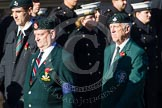 Remembrance Sunday at the Cenotaph in London 2014: Group A7 - Light Infantry Association. Press stand opposite the Foreign Office building, Whitehall, London SW1, London, Greater London, United Kingdom, on 09 November 2014 at 12:00, image #1156